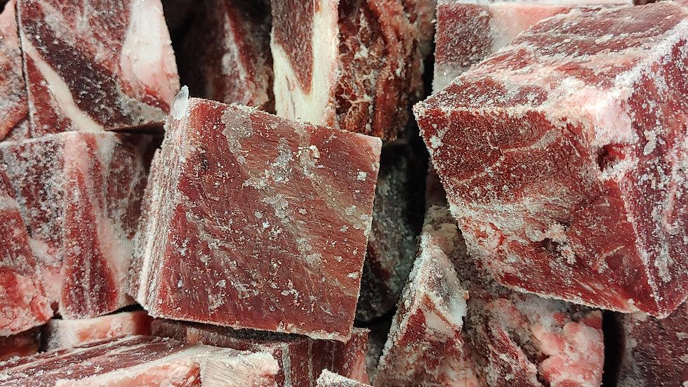 Beef cheeks cubes
