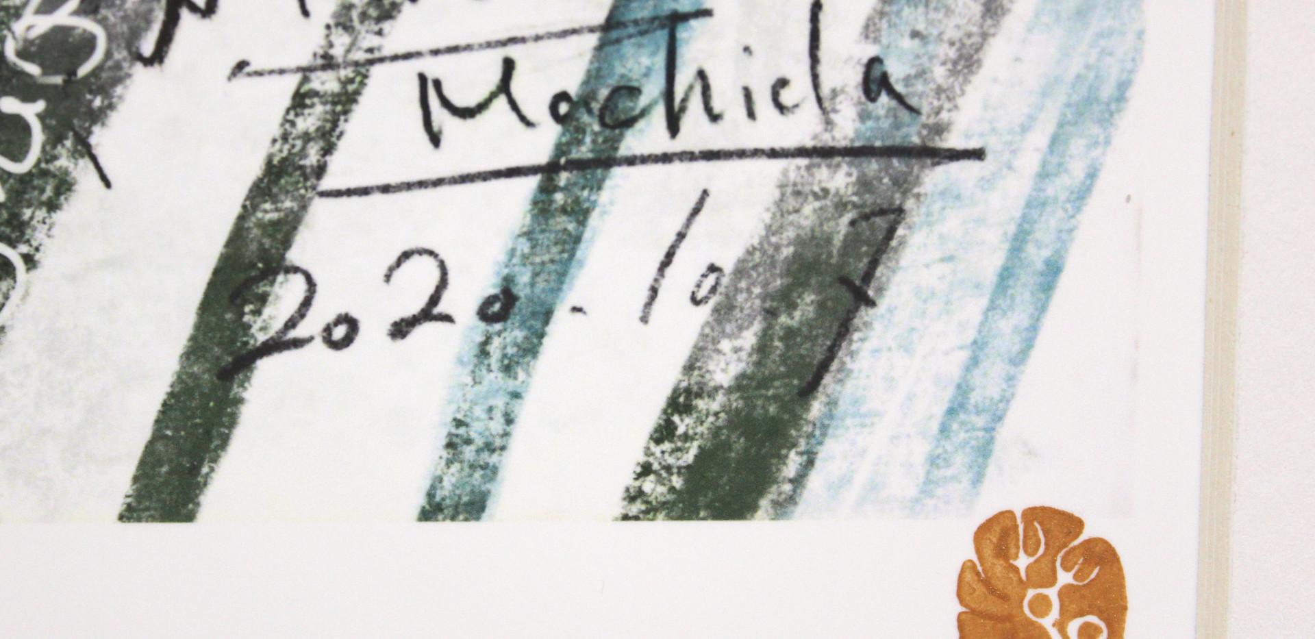 表に篆刻と、Edition「1/1」の記載をします。