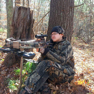 Out hunting, enjoying the outdoors