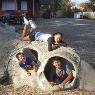 Dannely, Elijah, and Thiago having fun