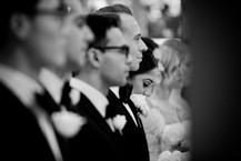bridal party at the altar