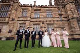 the bridal party at sydney university