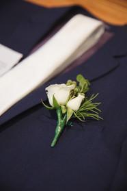 Groom's corsage photographed by de lumière photography