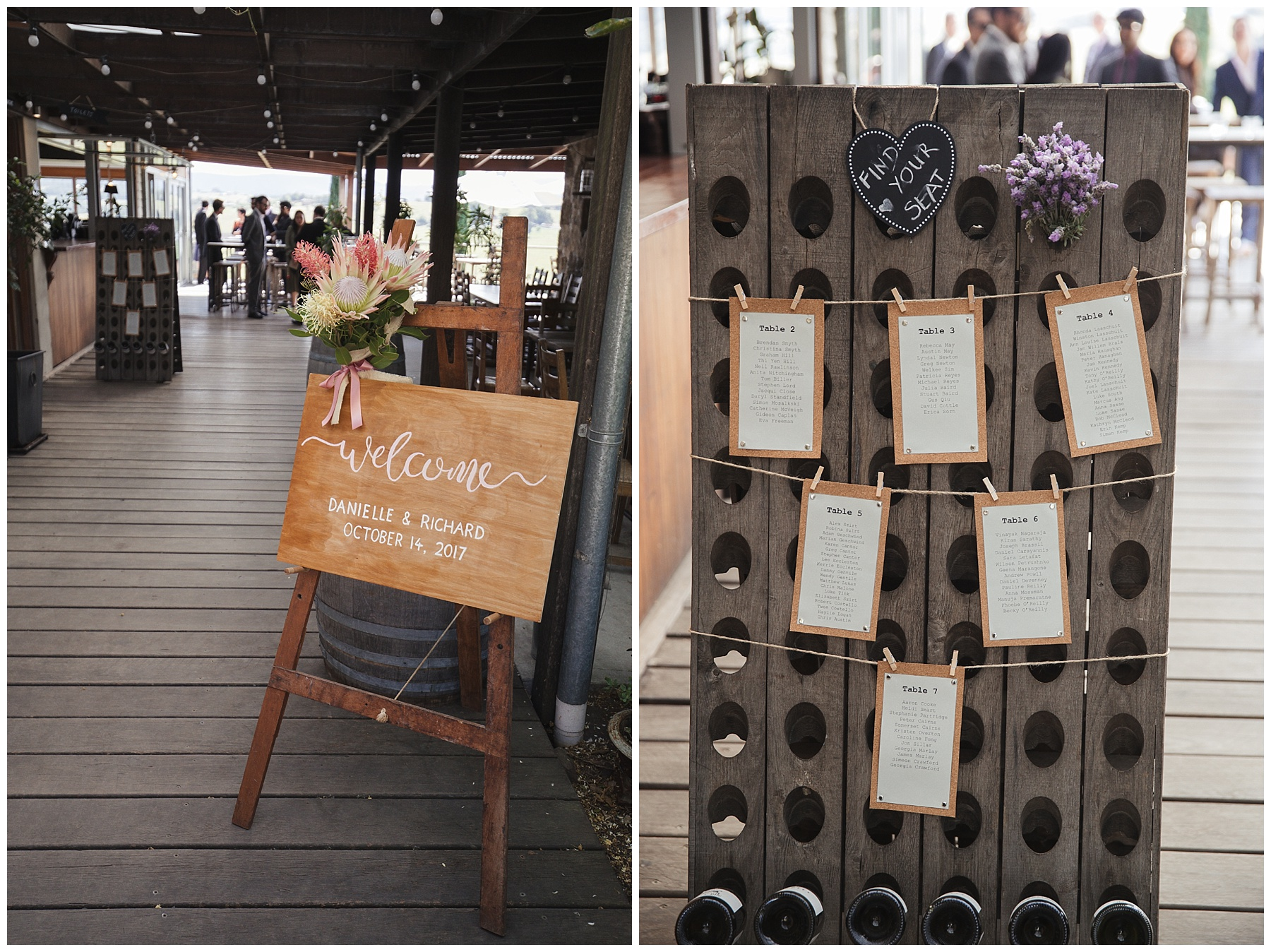Welcome wedding board and diy seating plan