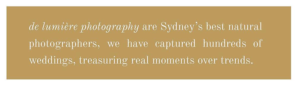 sydney's best natural wedding photographer de lumiere photography