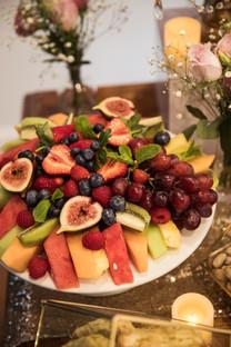 platter of fruit at greek wedding