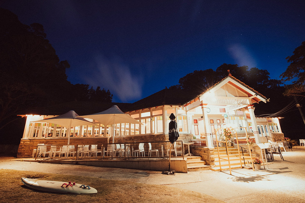 The Nielsen Charming Beachside Wedding Venue at night