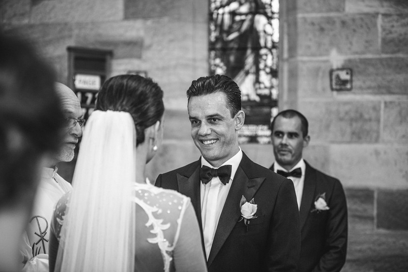 Church wedding ceremony photographed by de lumière photography