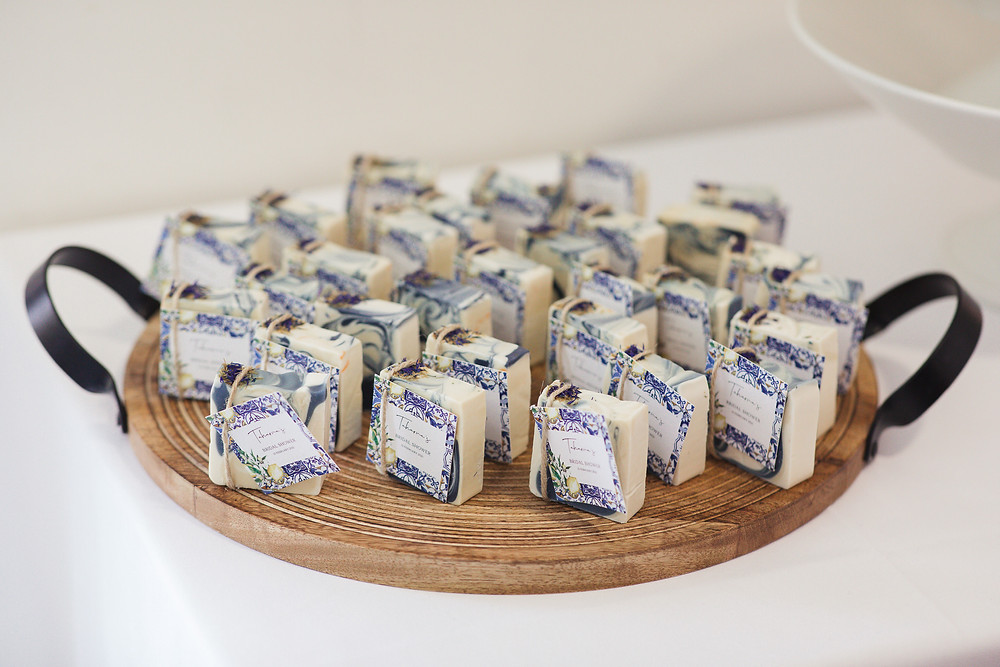 mediterranean inspired luxury bridal shower artisan soap bridal favours