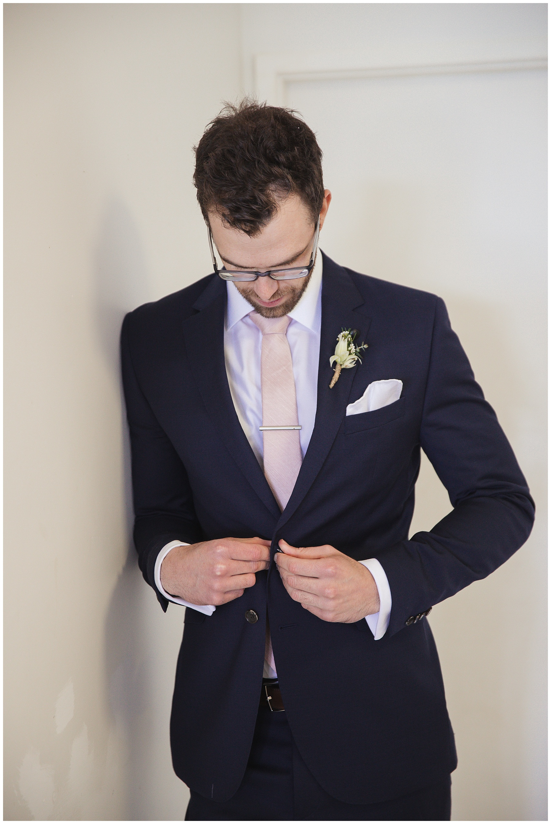 Groom in his suit