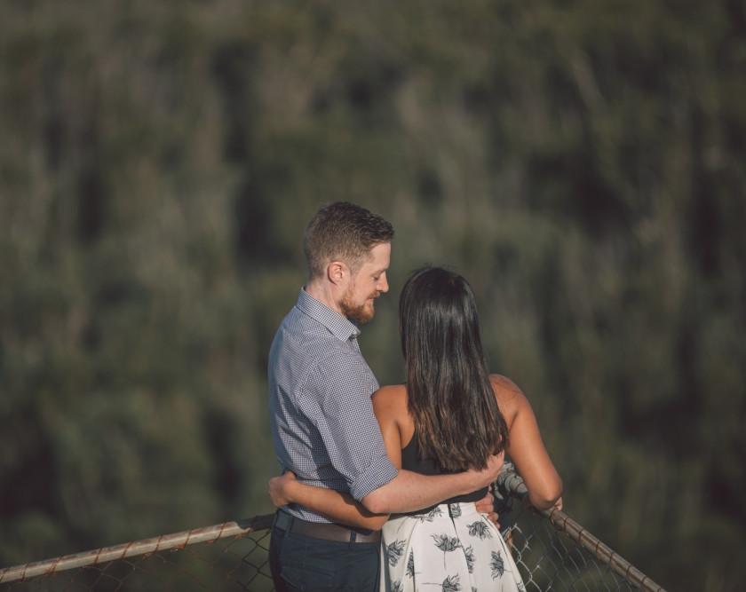 Man looking at girlfriend