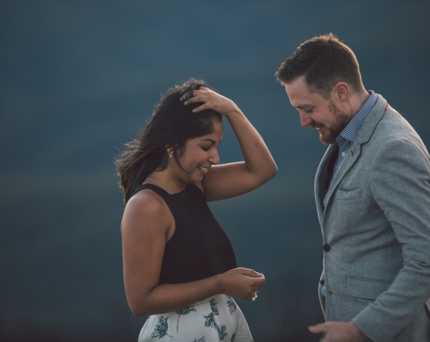 Woman overwhelmed at surprise proposal