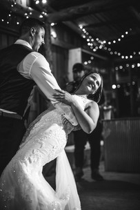 couple's first dance country wedding photographer