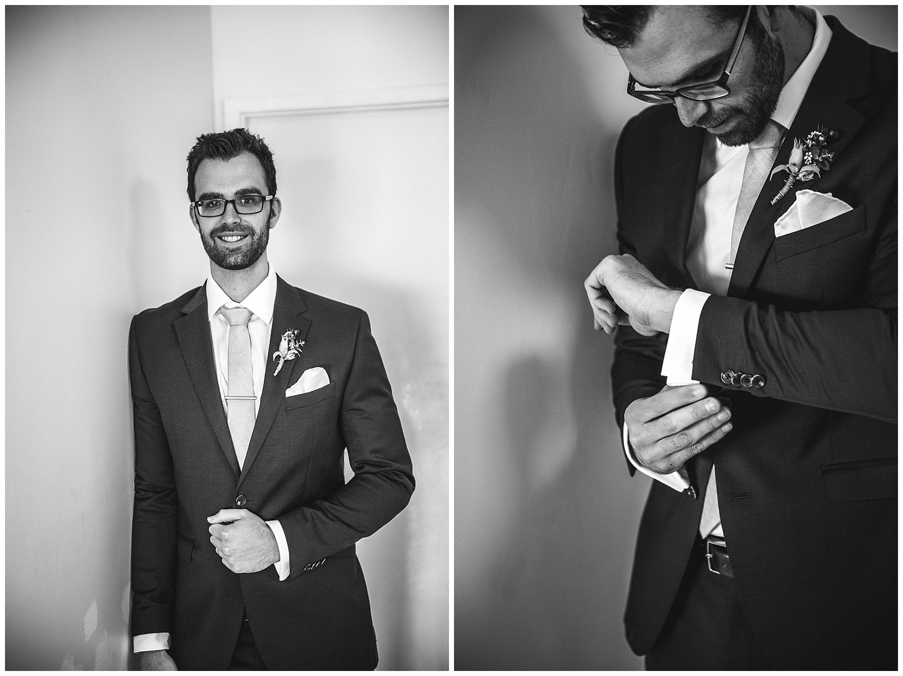 Groom prep photography