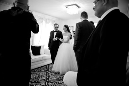 father and daughter - greek wedding celebration with family