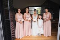 The bridal party photographed by de lumière photography
