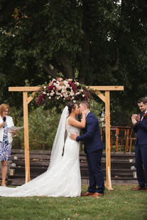 bride and groom first kiss country wedding de lumiere photography