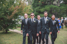 here comes the groom and his boys