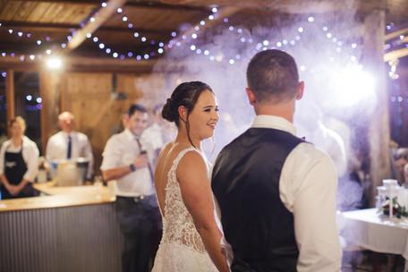 couple dancing with smoke country wedding photographer