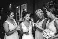 The bride and her girls celebrating the wedding day - captured by de lumière photography