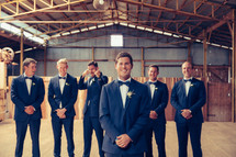 professional wedding photography groom portrait shearing shed