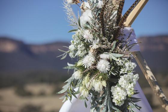 Native florals, tee pee, blue mountains photographed by de lumière photography