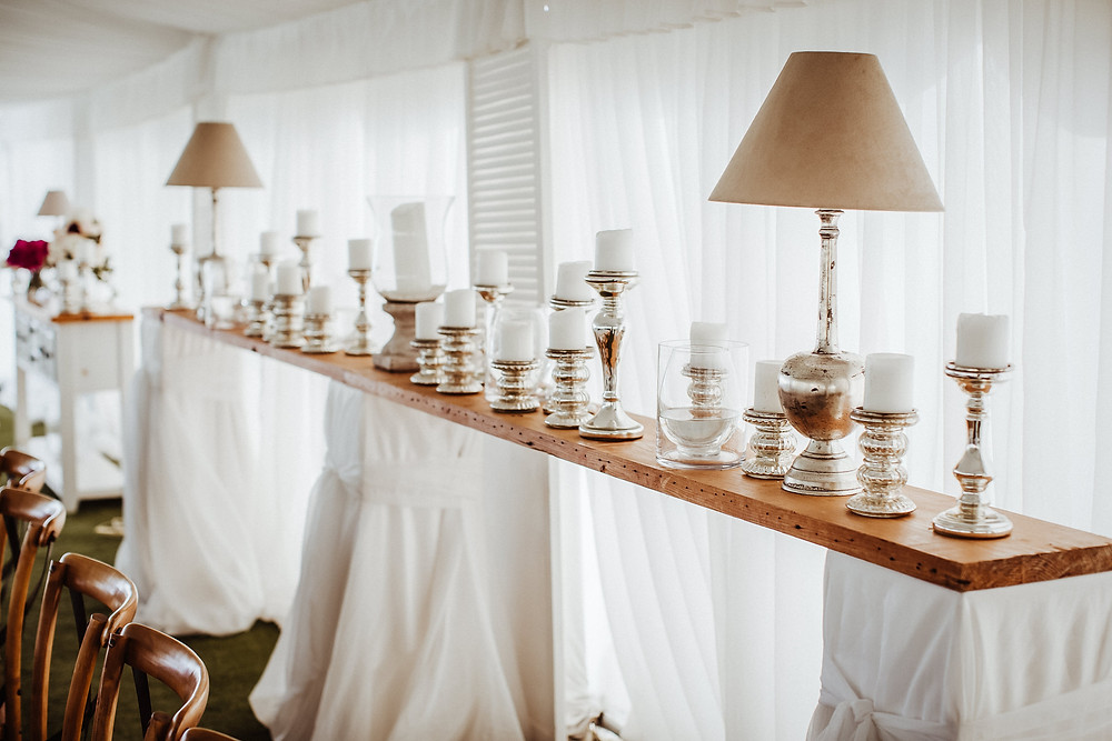 wedding styling candles
