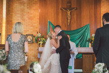church wedding the first kiss