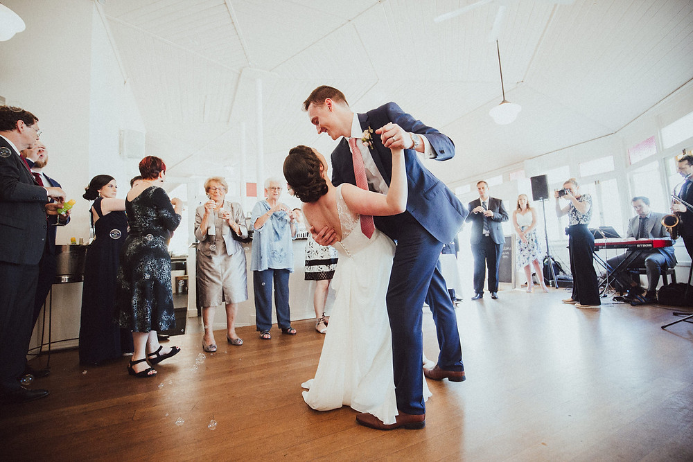 Kate and Marc's first dance at The Nielsen