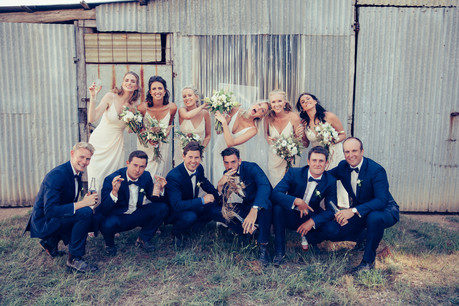 professional wedding photography bridal party fun waldara farm