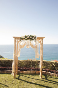 Macrame arbour wedding styling