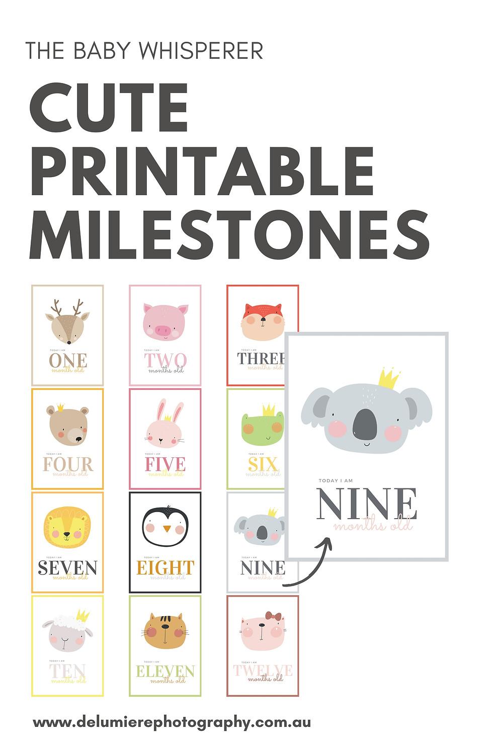 FREE printable baby milestones