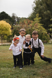 children celebrating at country wedding de lumiere photography
