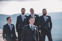 the groom and his groomsmen blue mountains