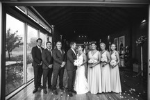 Indoor photo of bridal part in black and white