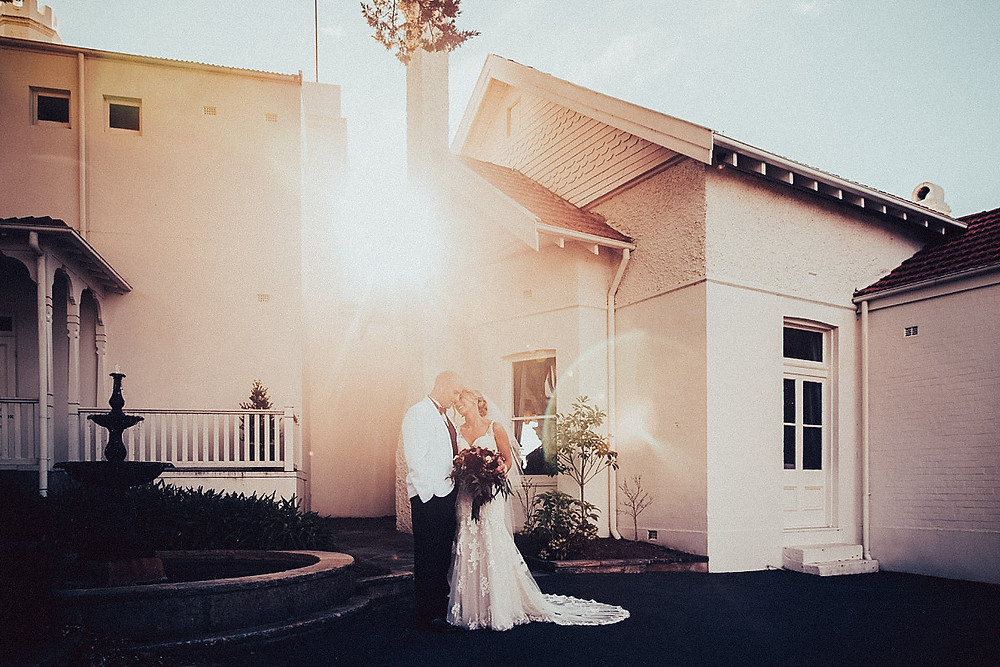 light filled hydro majestic wedding photographer