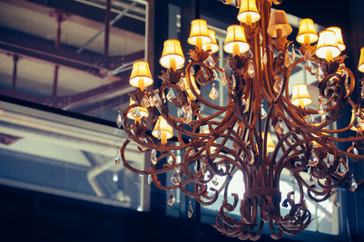 Chandelier at Cafe Morso