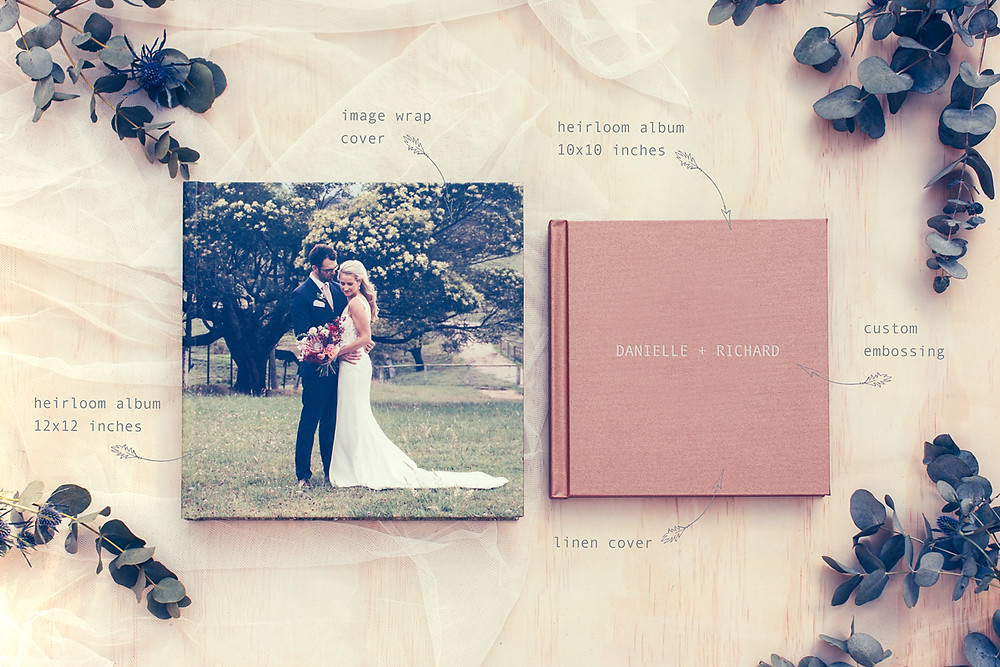 de lumière photography by Sarah Moore Heirloom Wedding Albums