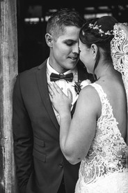 black and white image of bride and groom country wedding de lumiere photography