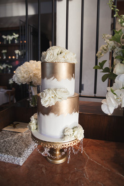Gold Wedding Cake by Sweet Fantasy Cakes