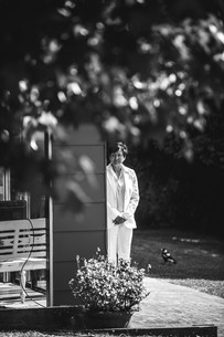 professional wedding photography love is love the bride waiting for her bride