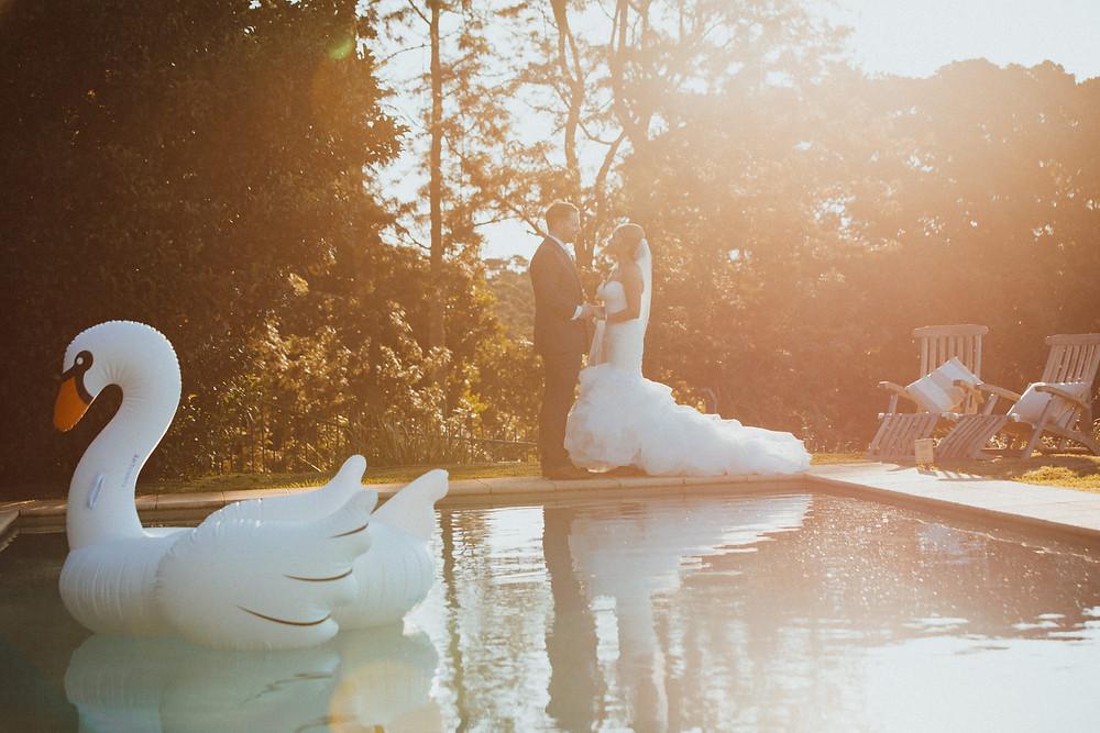 inflatable swan de lumiere photography destination wedding photographer