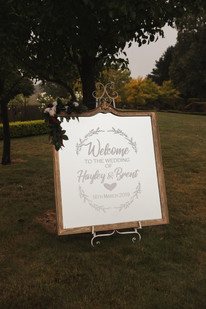 welcome wedding sign country wedding de lumiere photography