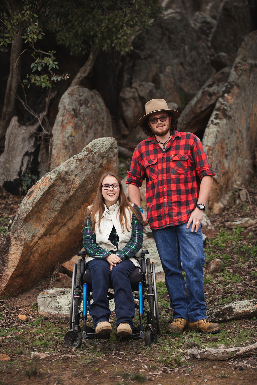 wheelchair engagement portrait session