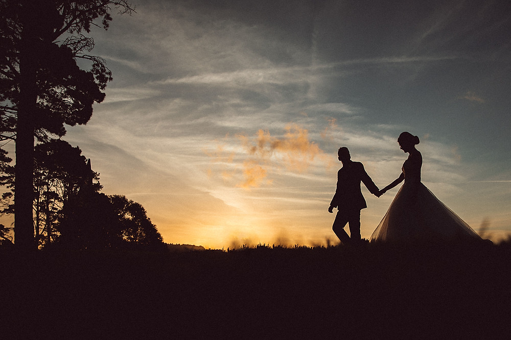 sunset mountain wedding de lumiere photography