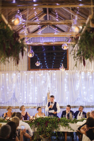 bridal party at head table country wedding de lumiere photography