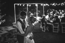 black and white wedding photography first dance