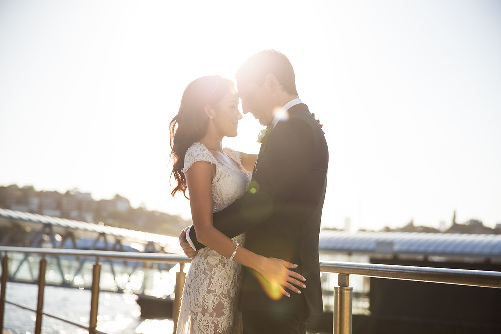 professional wedding photography on Sydney harbour at Catalina Rose bay