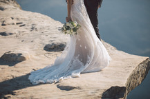 the bride in jack sullivan wedding gown blue mountains