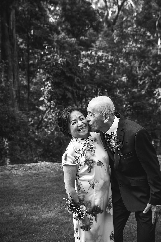 cute old couple kissing sydney wedding photographer